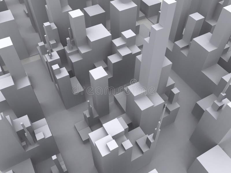 Grande estratto della città illustrazione vettoriale