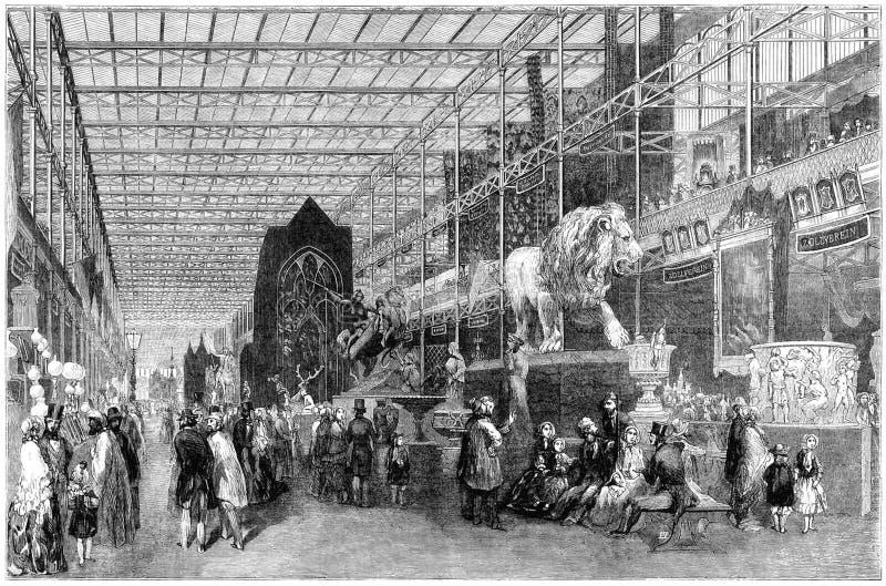 Grande Exhibition※ Nave straniero, sembrante ad ovest fotografia stock