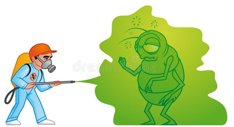 Grande extermination de parasite illustration stock