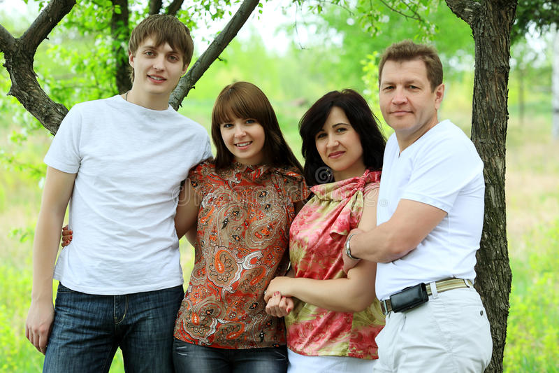 Grande família imagem de stock royalty free