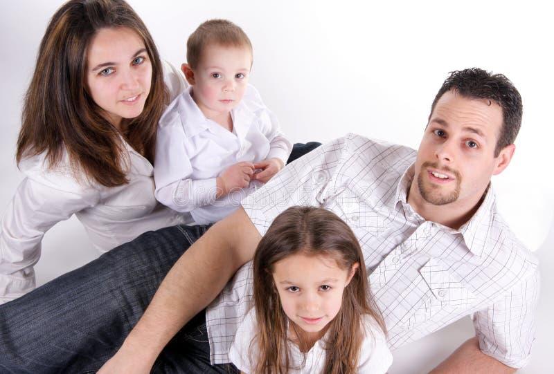 Grande família foto de stock