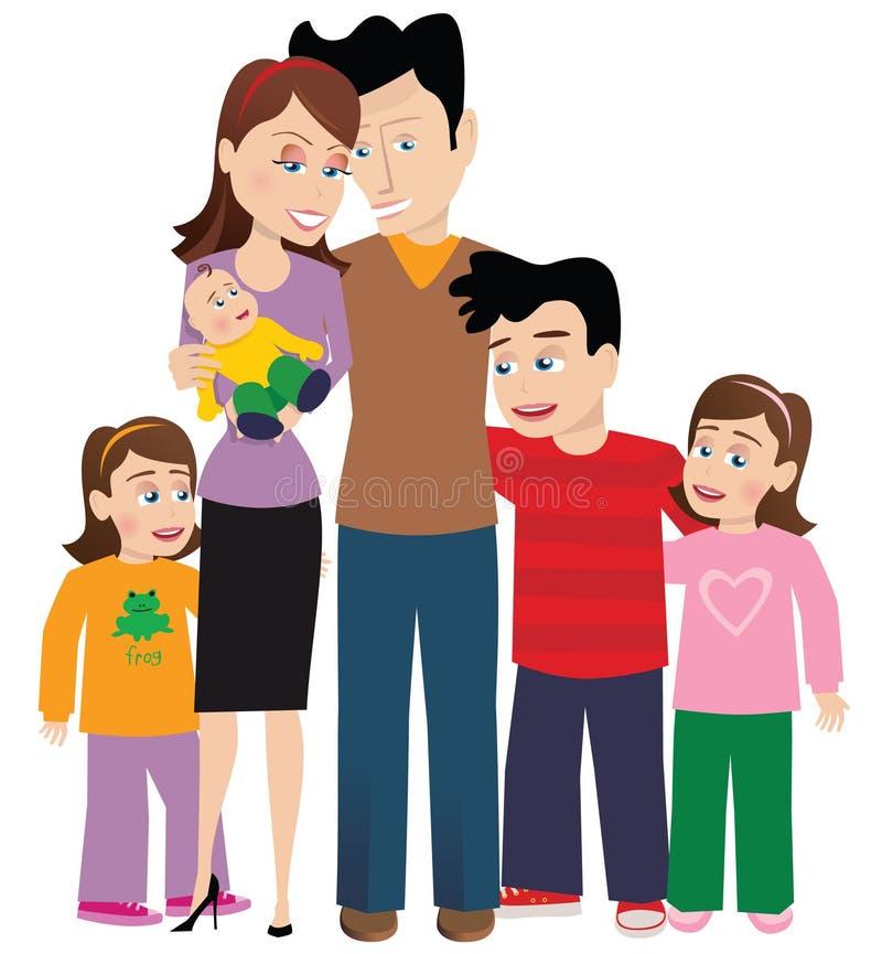 Grande família ilustração royalty free