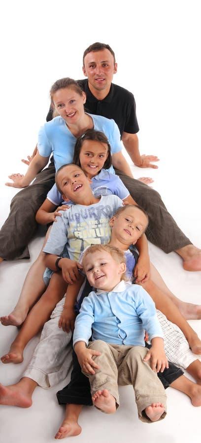 Grande famiglia di felicità fotografia stock