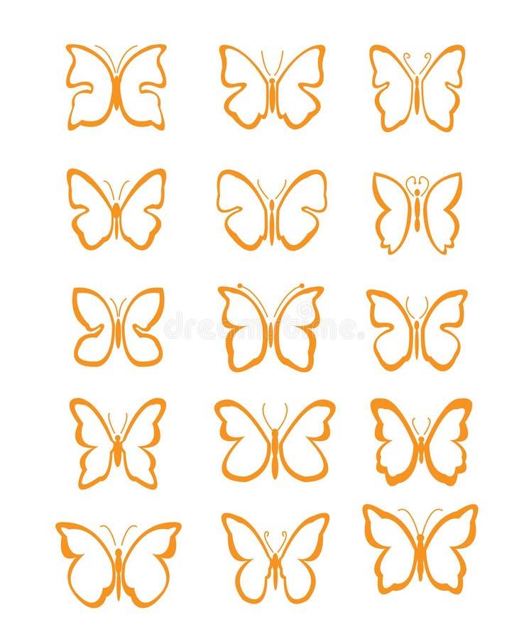 Grande farfalla dell'insieme fotografie stock