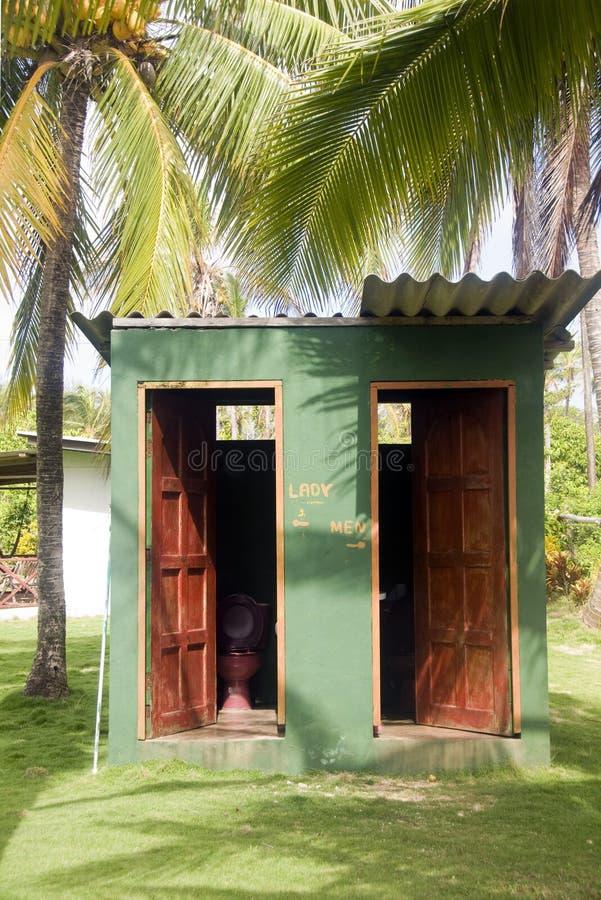 Grande ferme Nicaragua d'île de maïs de toilettes extérieures photographie stock