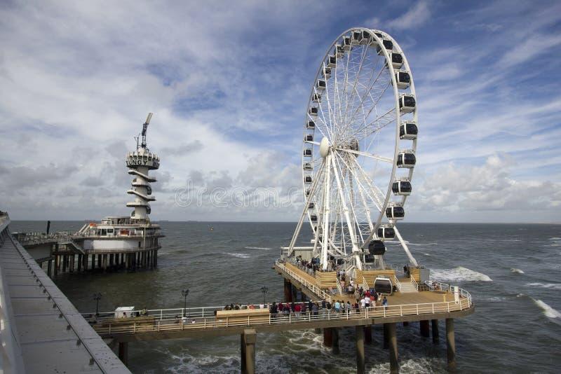 Grande Ferris roda dentro Scheveningen, Holanda fotografia de stock royalty free