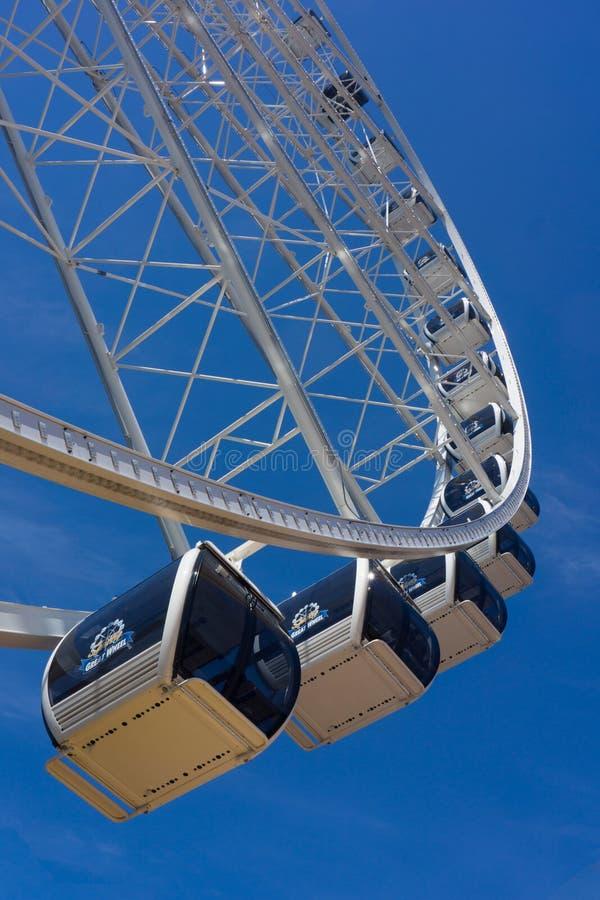 Grande Ferris Wheel - verticale immagini stock libere da diritti