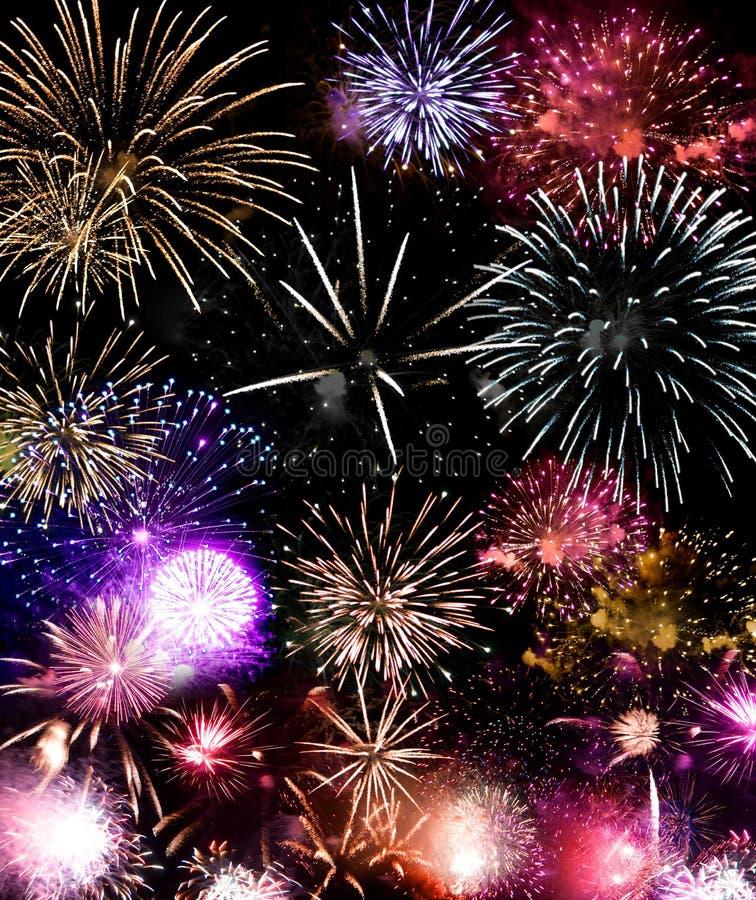 Grande finale dei fuochi d'artificio fotografie stock