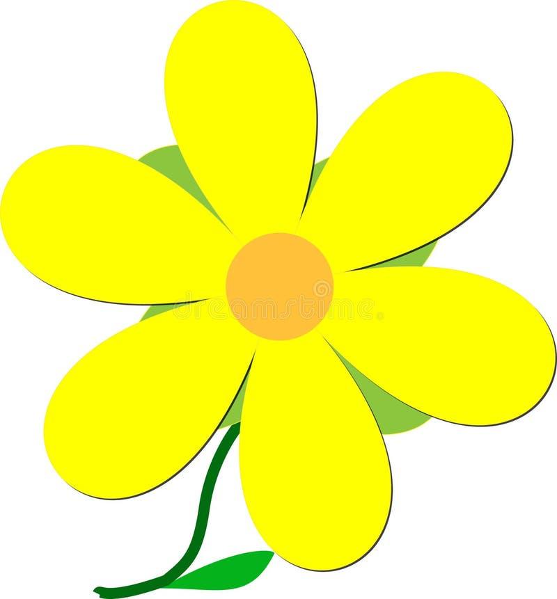 Grande fiore illustrazione vettoriale