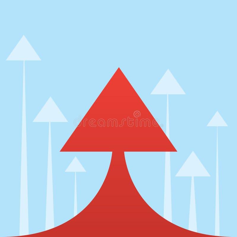 Grande flèche  illustration stock