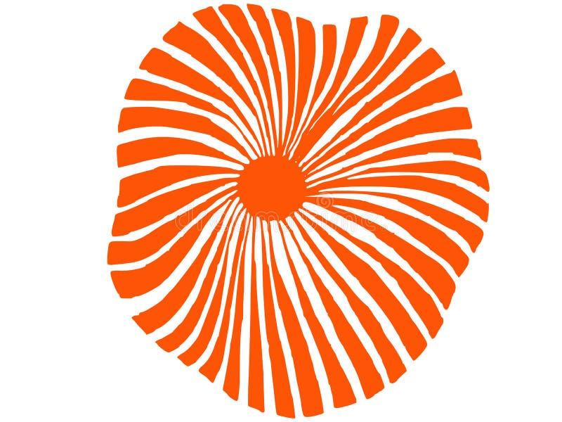 Grande fleur dans la couleur orange illustration libre de droits