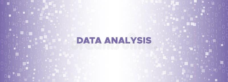 Grande Fluxo de Dados Partícula Roxa Futuro Violeta ilustração royalty free