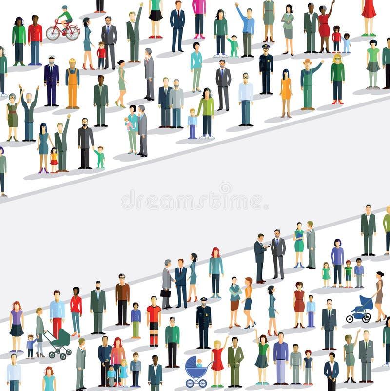 Grande folla della gente illustrazione vettoriale