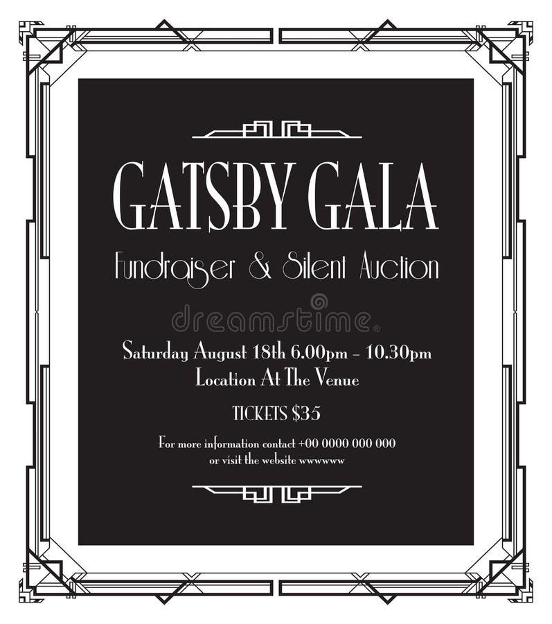 Grande fondo di galà di Gatsby illustrazione di stock