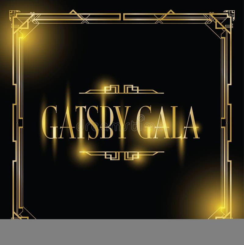 Grande fondo di galà di Gatsby illustrazione vettoriale