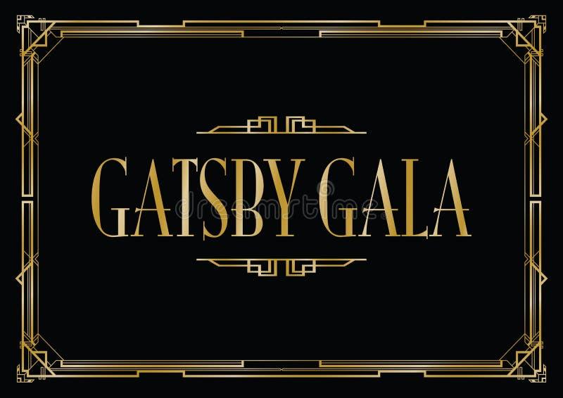 Grande fondo di galà di Gatsby royalty illustrazione gratis