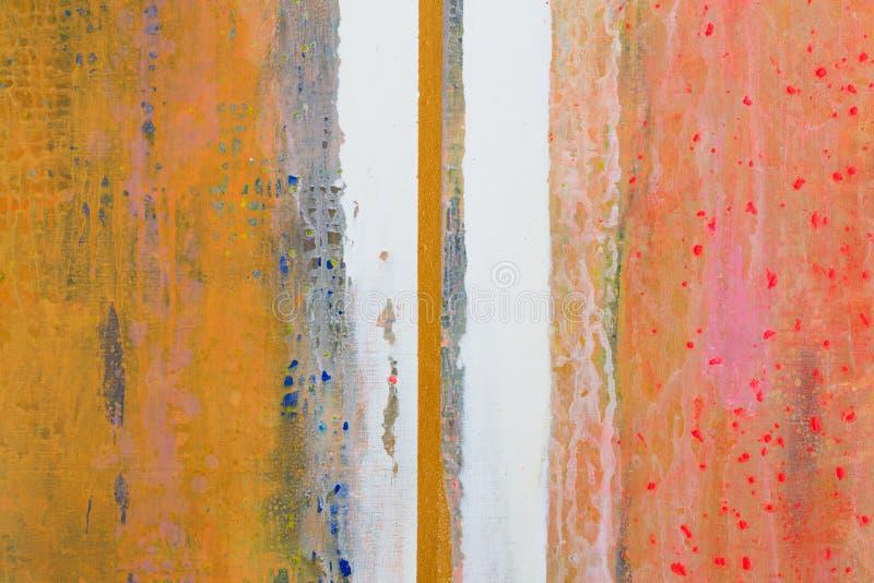 Grande fondo o struttura Pittura a olio astratta Lin verticale fotografie stock