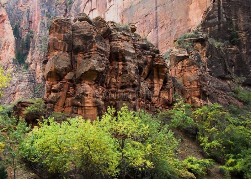 Grande formação de rocha em Zion N fotos de stock royalty free