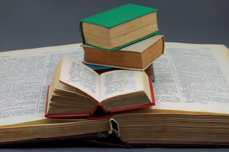 Grande formato, piccoli dizionari di formati. immagine stock libera da diritti