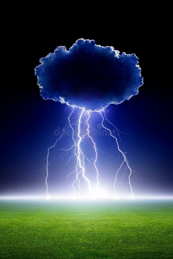 Foudre de nuage images libres de droits