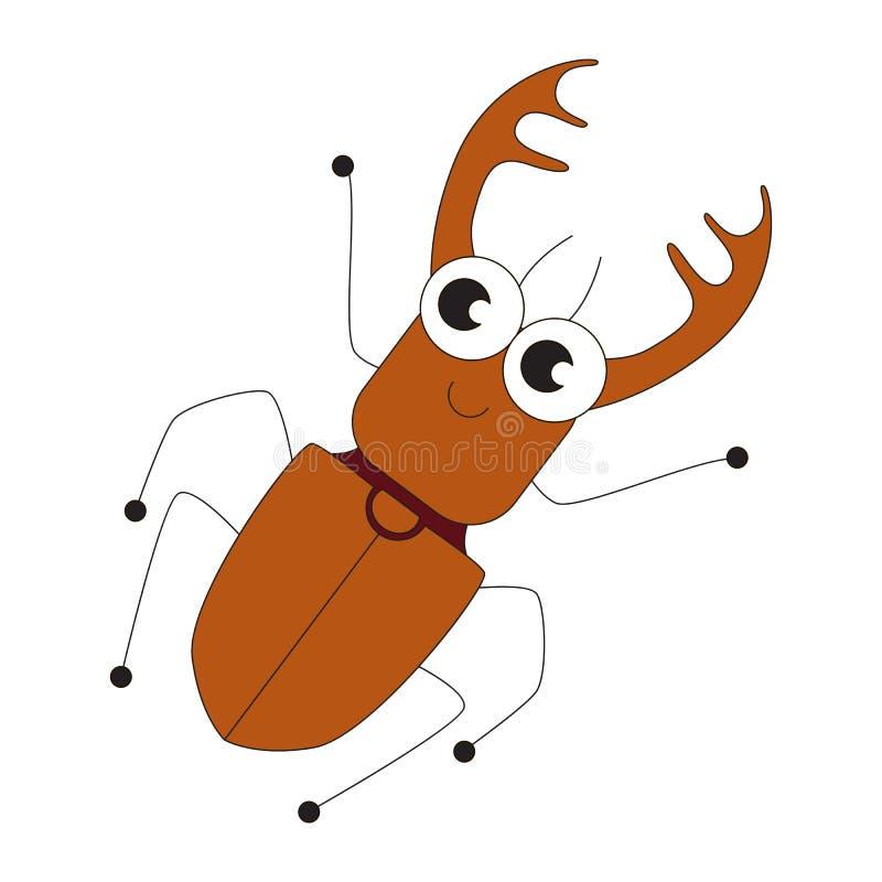 Grande fumetto dell'insetto royalty illustrazione gratis