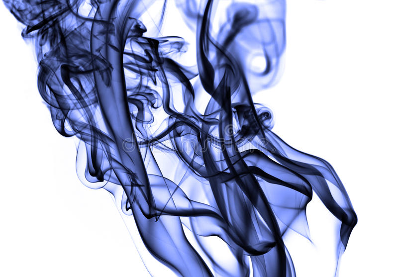 Grande fumo violeta foto de stock