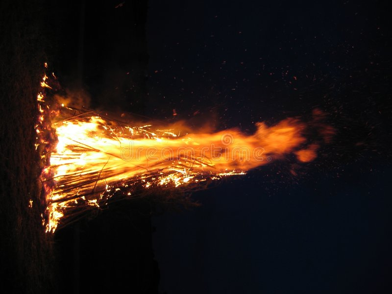 Grande fuoco immagini stock