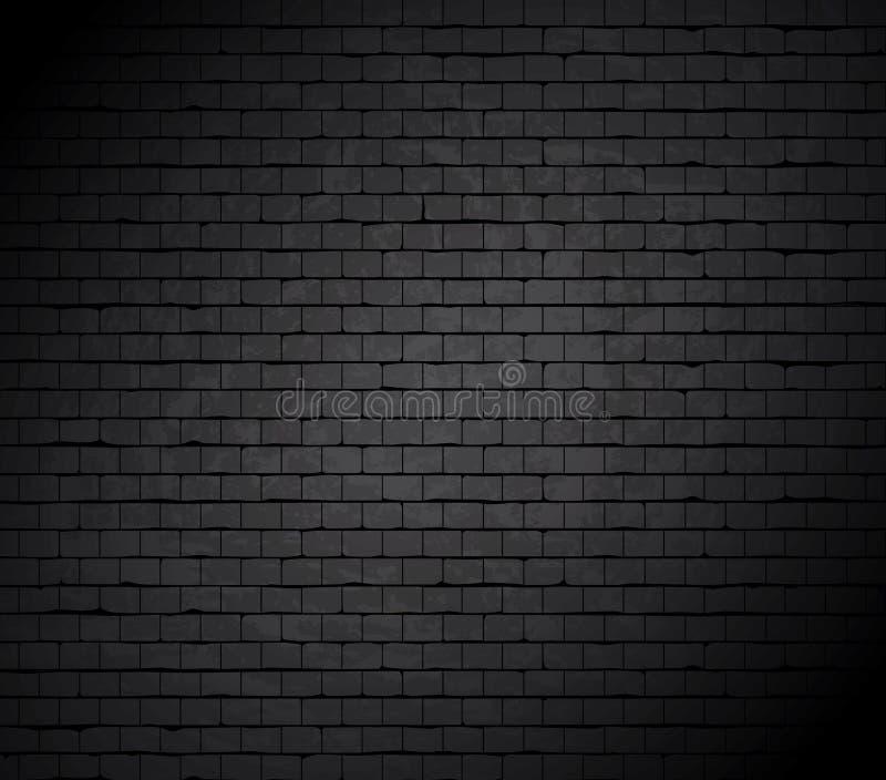 Grande furo na parede de tijolo. ilustração stock