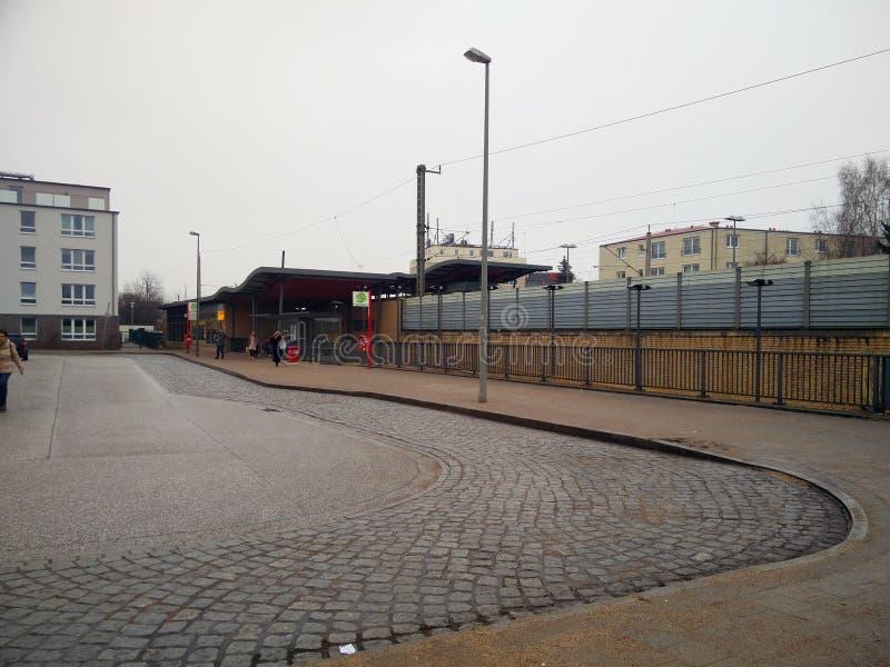 Grande gare routière dans la ville photos stock