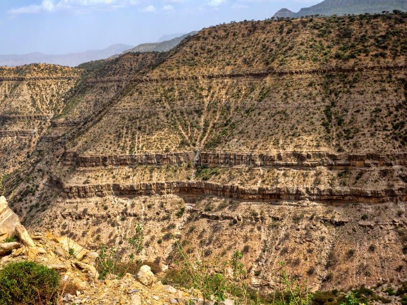 Grande garganta ao noroeste de Etiópia perto da depressão de Danakil imagem de stock royalty free