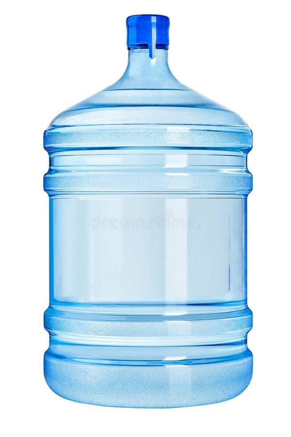 Grande garrafa plástica enchida com a água potável de cristal pura isolada fotos de stock