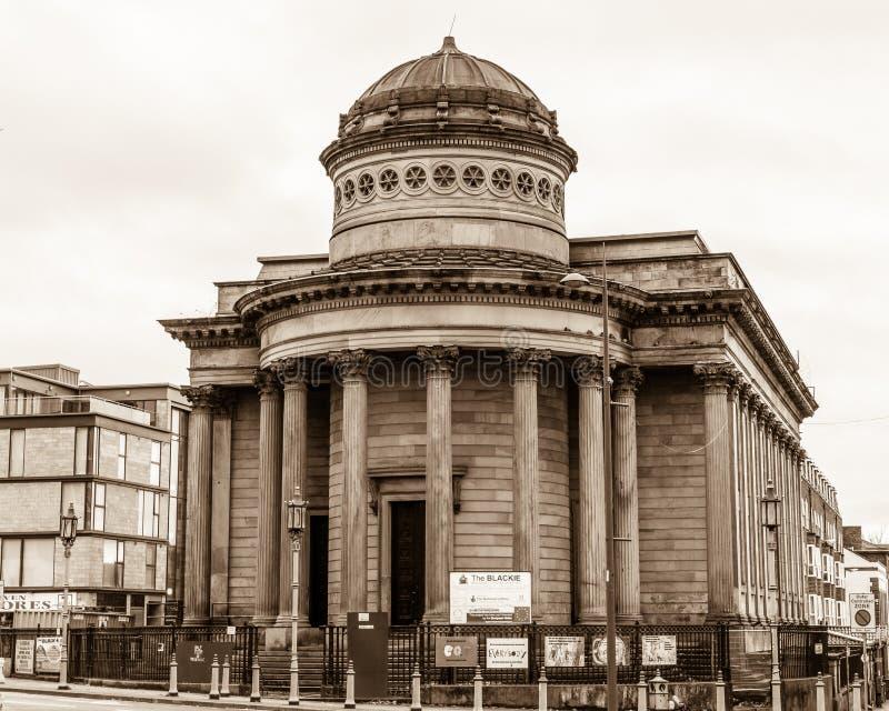 Grande George Street Congregational Church, a comunidade preta-e fotos de stock royalty free