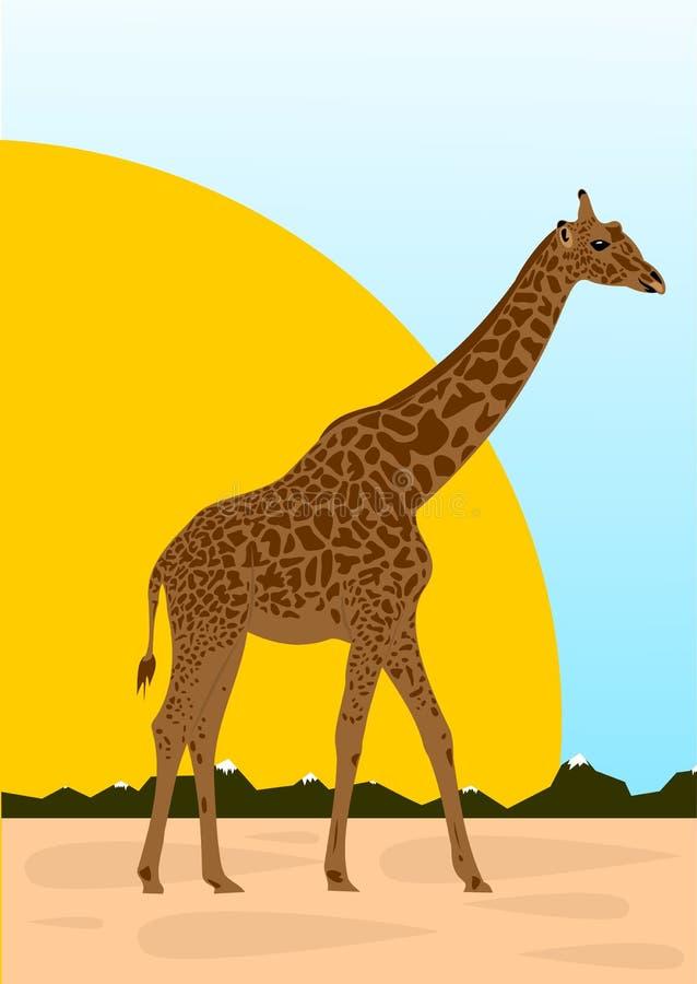 Grande giraffe illustration stock