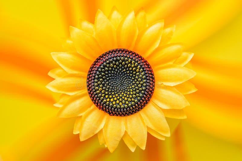 Grande girassol artificial amarelo fotografia de stock royalty free