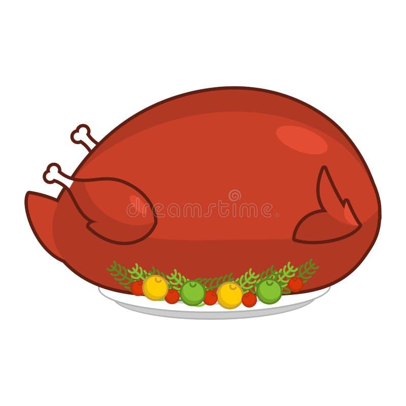 Grande grande dinde pour le thanksgiving Volaille géante cuite au four Rôti énorme illustration libre de droits