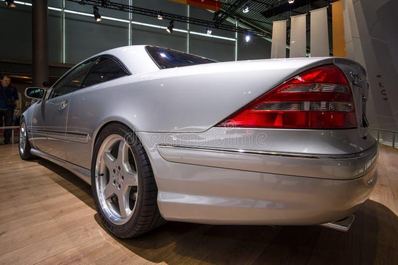 Grande ` grande luxuoso da edição limitada do ` F1 do CL 55 AMG de Mercedes-Benz do carro do tourer, C215, 2001 imagens de stock royalty free