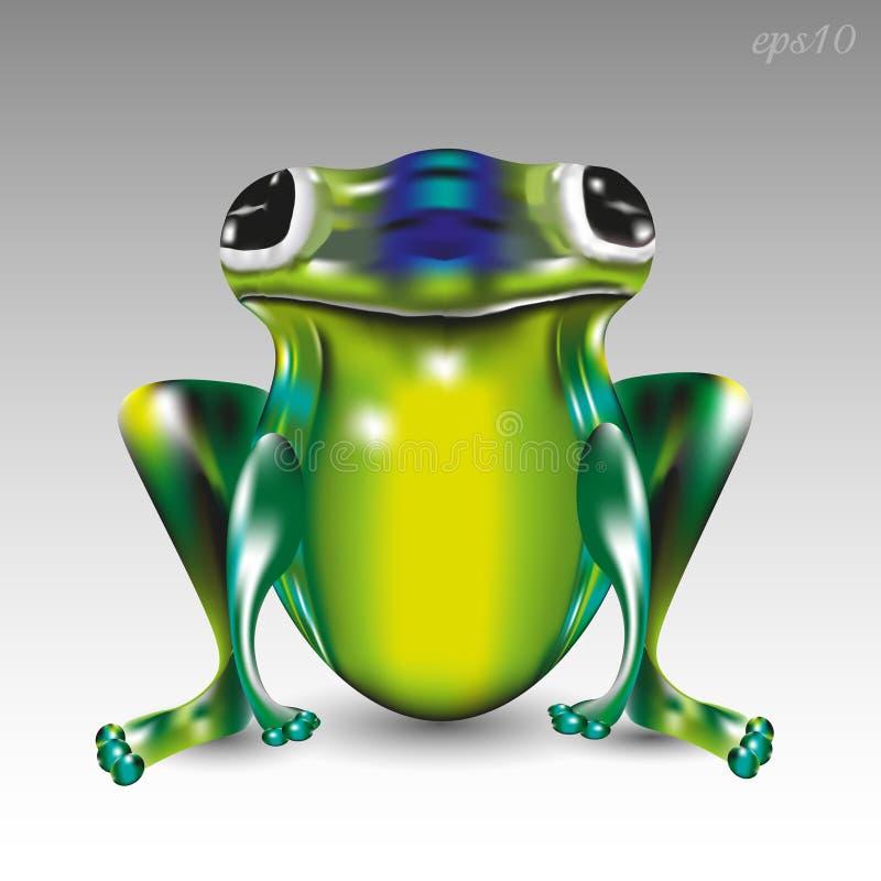 Grande grenouille verte illustration stock