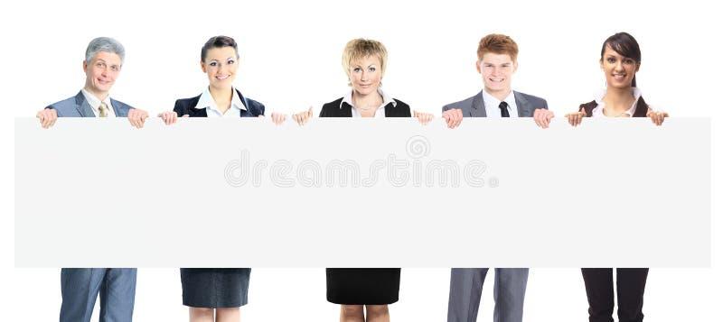 Grande grupo de executivos de sorriso novos foto de stock