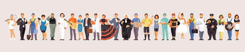 Grande grupo de profissões ilustração do vetor
