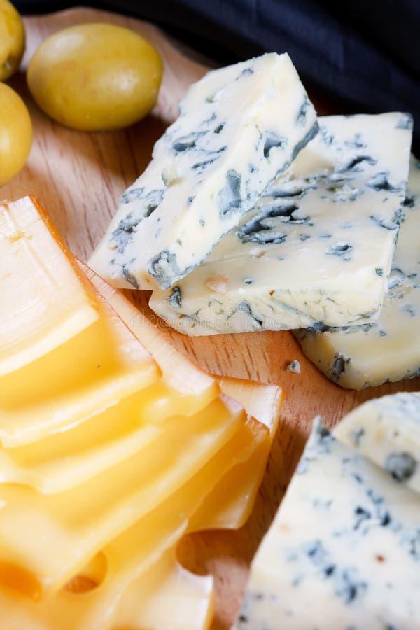 Grande gruppo di formaggi fotografia stock libera da diritti