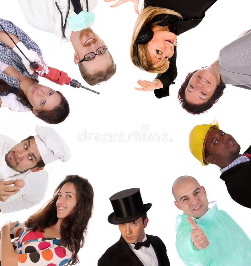 Grande gruppo di gente degli operai di diversità fotografia stock libera da diritti