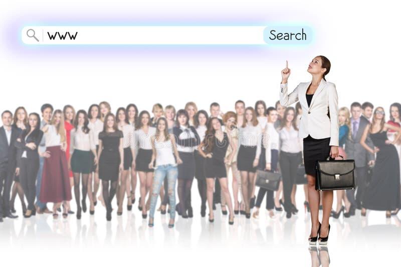 Grande gruppo di gente di affari immagini stock