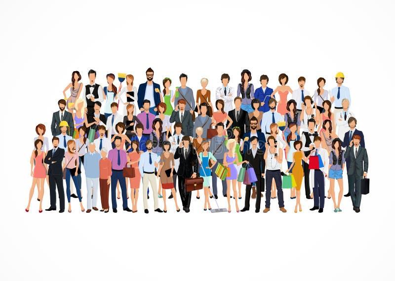 Grande gruppo di persone illustrazione di stock