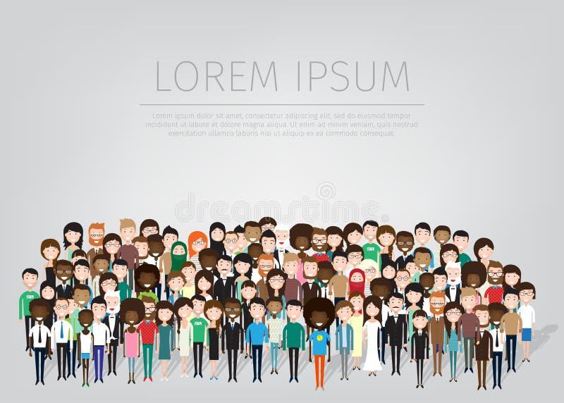 Grande gruppo di persone illustrazione vettoriale