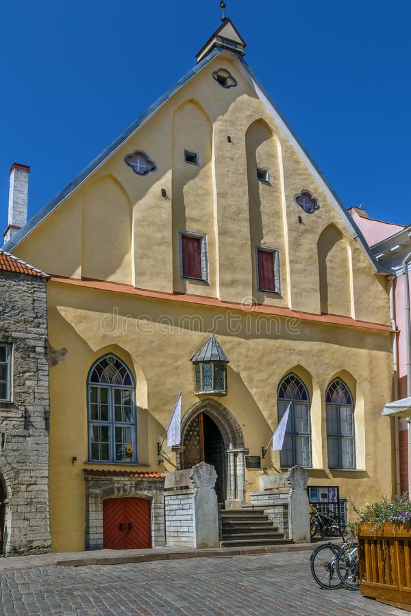 Grande guilde, Tallinn, Estonie photographie stock libre de droits