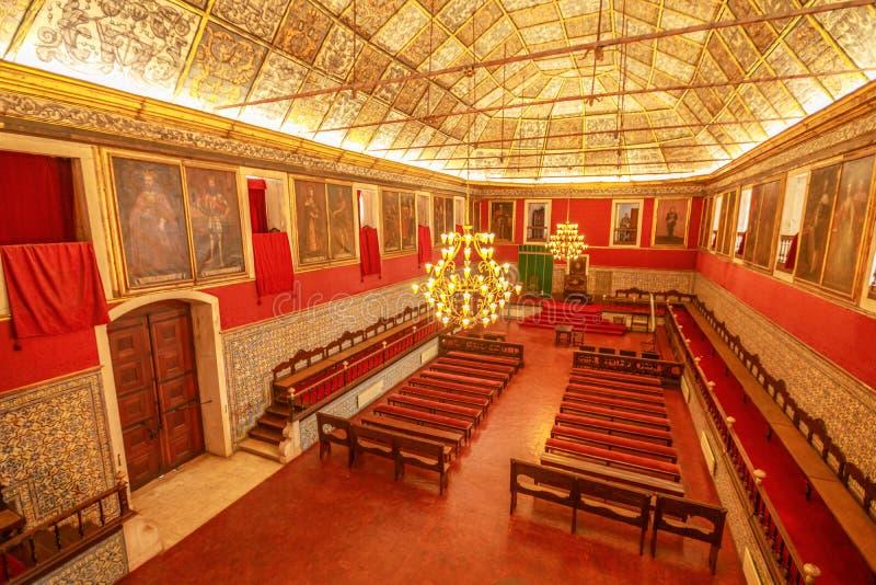 Grande Hall Coimbra University imagens de stock