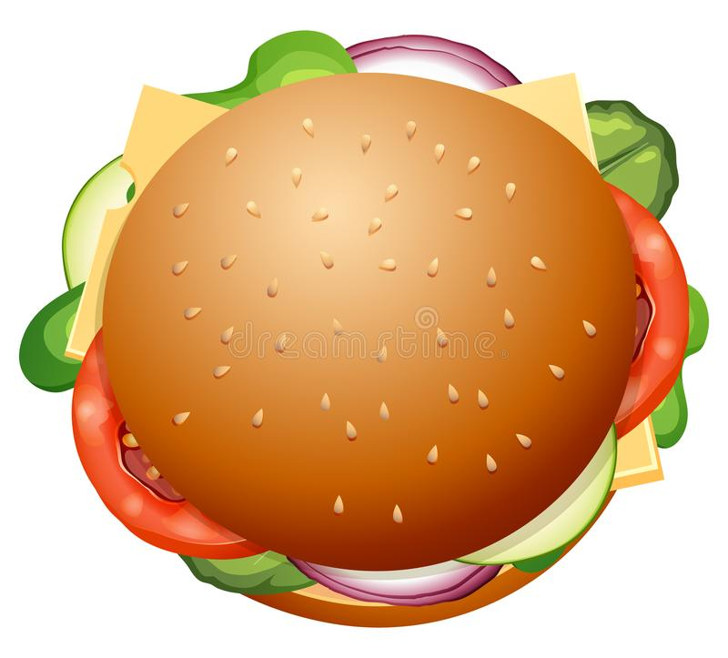 Grande Hamburger fresco isolado ilustração royalty free
