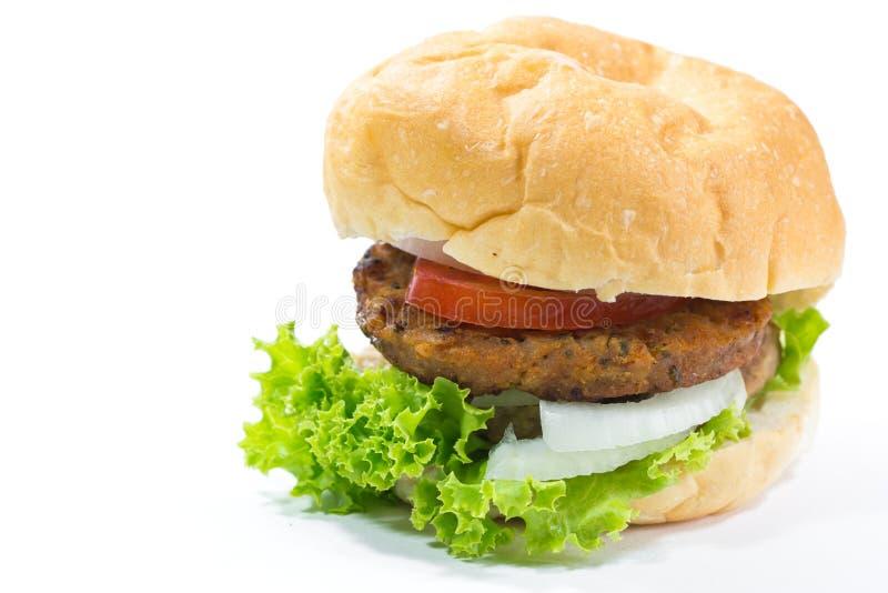 Grande hamburger isolato fotografie stock libere da diritti