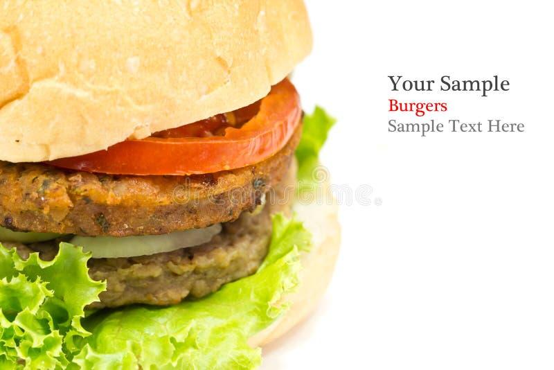 Grande hamburger isolato fotografia stock