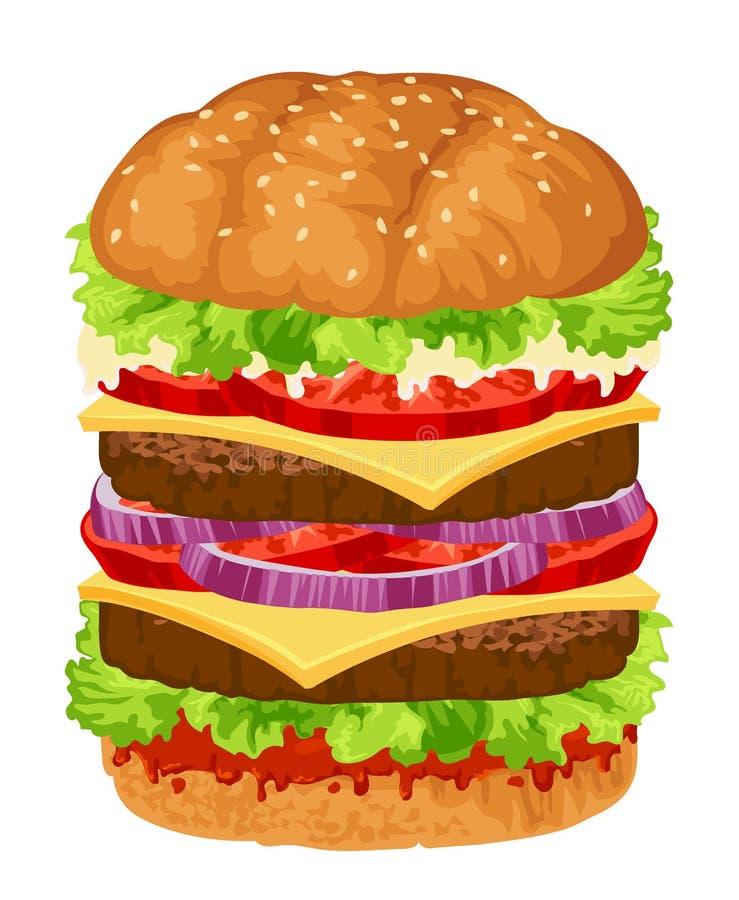 Grande hamburger illustrazione di stock